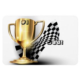Gold Trophy NUmber One Dad Father's Day Magnet