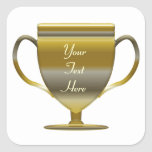 Gold Trophy Personlised Stickers