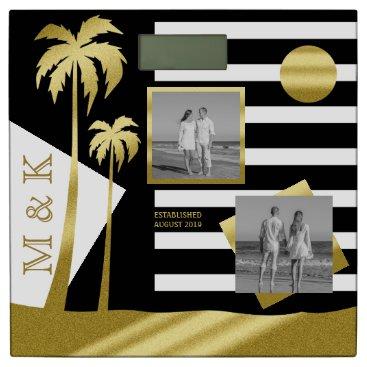 Beach Themed Gold Tropical Palm Trees Beach Instagram Photos Bathroom Scale