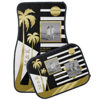 Gold Tropical Palm Trees Beach Instagram Photos Car Floor Mat