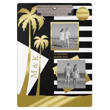 Beach Themed Gold Tropical Palm Trees Beach Instagram Photos Clipboard