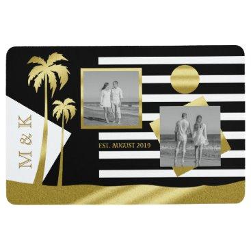 Beach Themed Gold Tropical Palm Trees Beach Instagram Photos Floor Mat