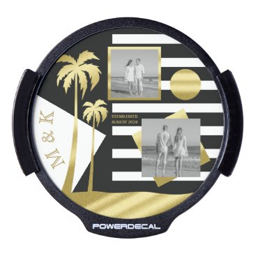 Beach Themed Gold Tropical Palm Trees Beach Instagram Photos LED Window Decal