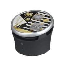 Gold Tropical Palm Trees Beach Instagram Photos Speaker