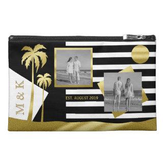 Gold Tropical Palm Trees Beach Instagram Photos Travel Accessory Bag