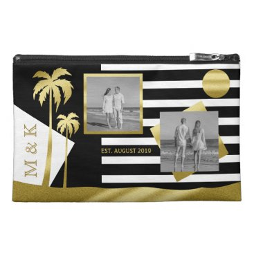 Beach Themed Gold Tropical Palm Trees Beach Instagram Photos Travel Accessory Bag