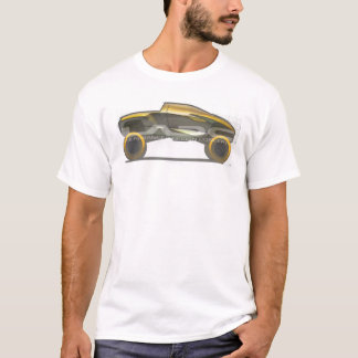 gold truck logo fitted T shirt