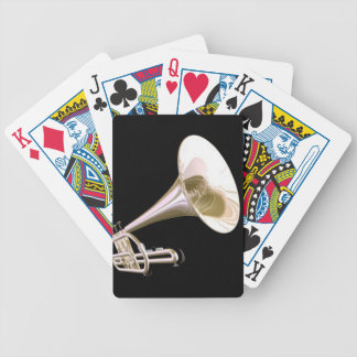 Gold Trumpet Music Bicycle® Play Bicycle Playing Cards