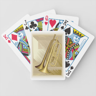 Gold Trumpets Music Bicycle® Play Bicycle Playing Cards
