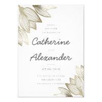 Gold Tulip Blossoms | Wedding Invitation