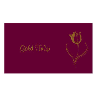 Gold Tulip Double-Sided Standard Business Cards (Pack Of 100)