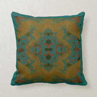 Gold & Turquoise Modern Pattern Pillow 4 Home
