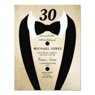 Mens 30th Birthday Invitations Zazzle
