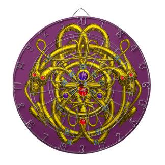 GOLD TWIN DRAGONS, Purple Dart Boards