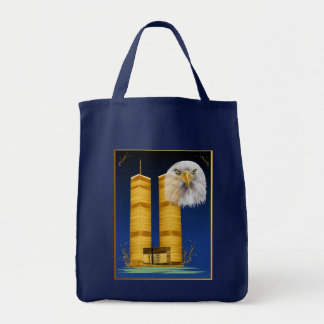 Gold Twin Towers and Eagle  Bags