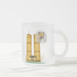 Gold Twin Towers and Eagle Mugs