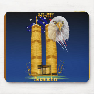 Gold Twin Towers, Eagle n Flag Mousepad