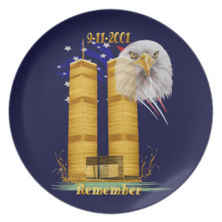 Gold Twin Towers, Eagle n Flag Plates