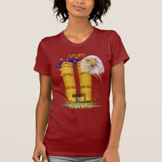 Gold Twin Towers, Eagle n Flag Shirt