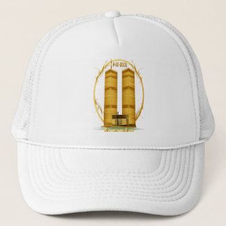 Gold Twin Towers Oval lettered  Hats