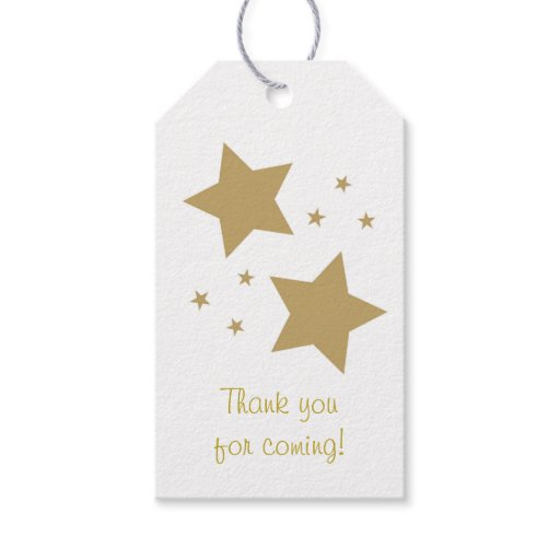 Gold Twinkle Star Party Favor Tags