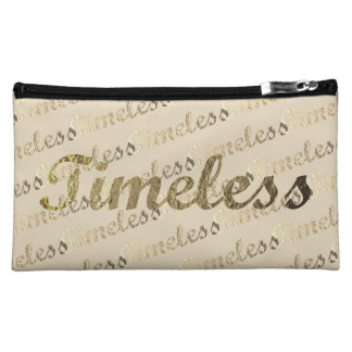 Gold Typography: Timeless Makeup Bag