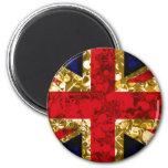Gold UK Flag London 3D magnet