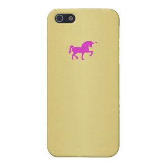 Gold Unicorn Logo Iphone 5 Case design
