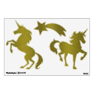 Gold Unicorn Wall Sticker