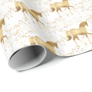 Gold Unicorn Wrapping Paper