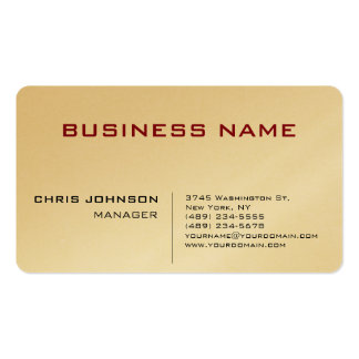 Gold Unique Chic Manager Business Card