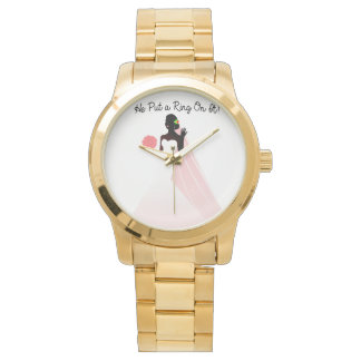 Gold Unisex Bridal Watch