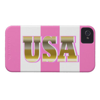 Gold USA Sports Pink iPhone Case Gift iPhone 4 Case