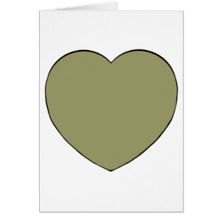 Gold Valentine Heart Card