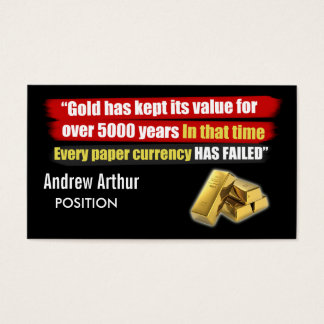 Gold Value - Business Card