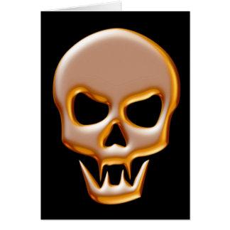 Gold Vampire Skull Card
