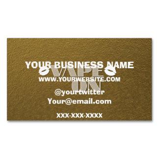 Gold Vape Lips Business Card Magnet
