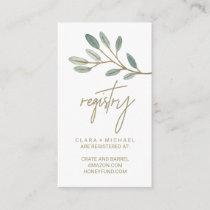 Gold Veined Eucalyptus Gift Registry Enclosure Card