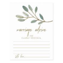 Gold Veined Eucalyptus Marriage Advice Cards