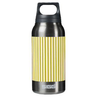 Gold vertical stripes thermos bottle