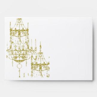 Gold Victorian Chandelier Envelopes