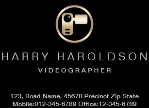 Videographer business cards templates zazzle gold video camera icon videographer business card colourmoves
