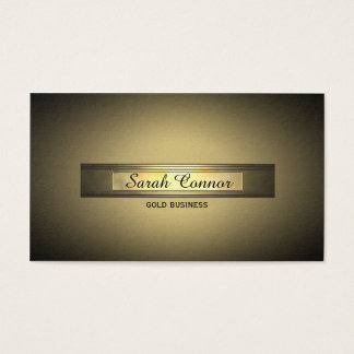 gold vignette business card