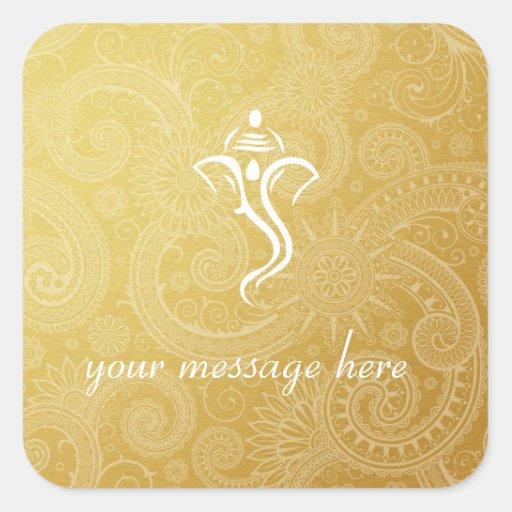 gold vinayaka wedding stickers zazzle