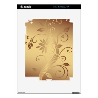 Gold Vines Decal For The iPad 2