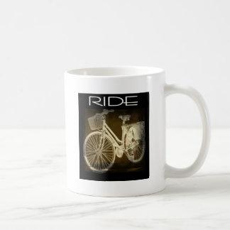 Gold Vintage Bike Ride Coffee Mug