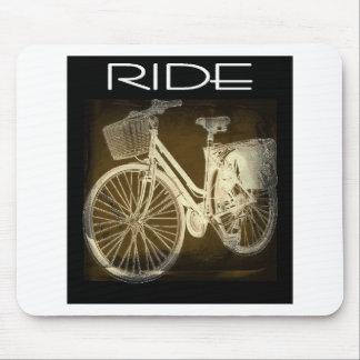 Gold Vintage Bike Ride Mouse Pad