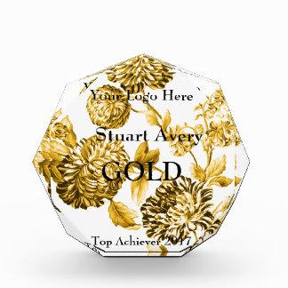 Gold Vintage Botanical Achievers Acrylic Award