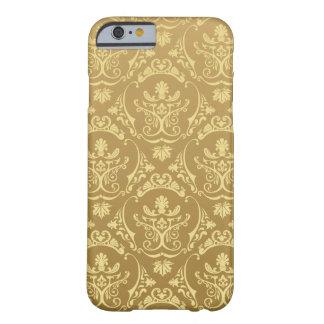 gold,vintage,damasks,floral,chic,elegant,trendy,gi barely there iPhone 6 case