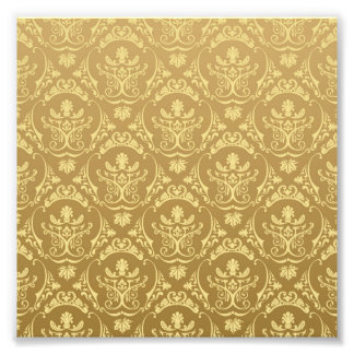 gold,vintage,damasks,floral,chic,elegant,trendy,gi photo print